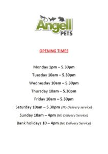 Angell Pets opening times