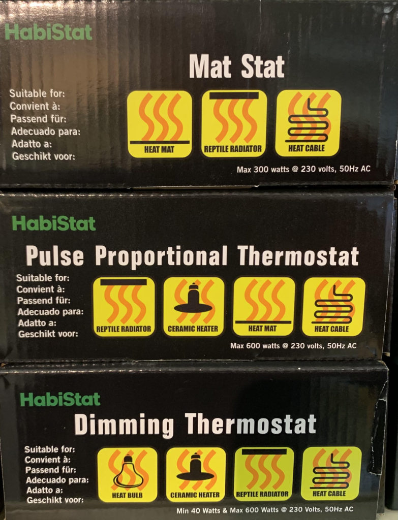 spotted python thermostats